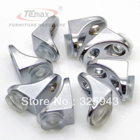 New 8 pcs Chrome F style cabinet support glass shelf clamp clip board with glass suction cupboard