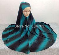 UA001 Assorted colors,free shipping popular big long one piece hijab;muslim hijab