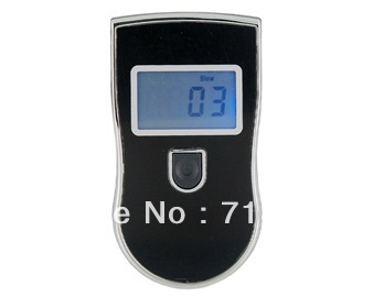 Professional Digital Breath Alcohol Tester (Black)