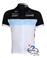 Free Shipping Team cycling Jersey Leopard New Style in 2012 White+Black+Blue 098