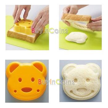 Little Bear Shape Sandwich Bread Cake Mold Maker DIY Mold Cutter Craft  #30455