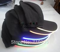 Pattern ! summer led fiber optic luminous hat anti-uv sun hat sun-shading