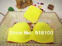 New Arrival hot sexy seamless bra set young girl's fashion underwear set pink/yellow bra wholesale&retail
