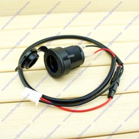 0.6m 12V 5A Fused Motorcycle Scooter ATV Car Waterproof Cigarette Lighter Socket Power Outlet Free shipping