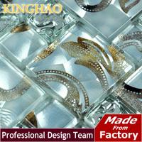 2014 Real Fireplace Building Materials Bathroom Tiles [kinghao] Glass Mosaic Tile Wall Tiles Deco Mesh Backsplash, Color Kwp802
