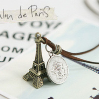 Fashion Eiffel Tower pearl necklace Free shipping