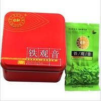 Free Shipping Premium Organic Tea Anxi Tie Guan Yin Tea Chinese Oolong Tea Green Tea  70g*6 In Nice Gift Packing T-003