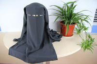 A065 Assorted colors,free shipping HIJAB LONG muslim black MASK ISLAMIC VEIL niqabs