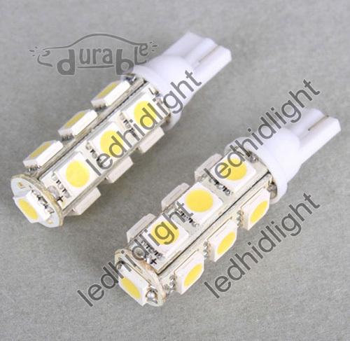 50pcs free shipping led auto light side bulbs T10 13SMD 5050 194 168 192 W5W 13 smd 5050(China (Mainland))