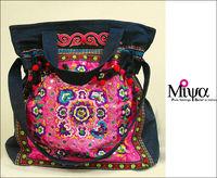 National trend embroidery messenger bag women's handbag national bags