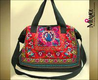 National trend embroidery one shoulder cross-body women's handbag national bag