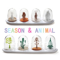 Free Shipping Wholesale 50 sets  Animal Parade Spice / Seasoning Shakers ( season & animal Shaker)