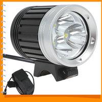 SecurityIng 3 x CREE XML T6 LED 3800 Lumen LED Headlamp Waterproof Headlight + 4 Modes Bicycle Light Bike Lamp for Cycling