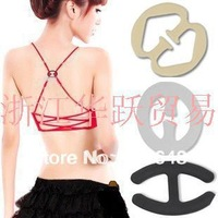 Woman underwear bra fitting buckle,Sexy antiskid Invisible Bra Buckle,Clip Strap , mixed color 4 styles can choose