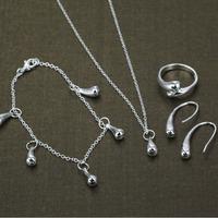 S1223 fashion jewelry sets 925 silver sets pendants bracelet earrings for women Water drops suit /asja jjqa