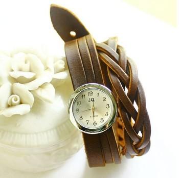 Hot Wholesale! luxury lady Genuine Cow leather fashion Wrap Quart wrist watches for women wedding gift. WG02