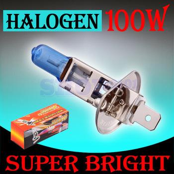 10pcs H1 Halogen Super Bright White Fog Halogen Bulb 100W Car Head Lamp H1 Light  V10 12V Parking Car Light Source