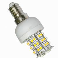 Free shipping! 4 x E14 48led corn bulb,  3W white and warm white table lamp, AC220V or AC110V working