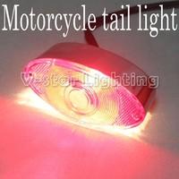 EMS Free Shipping!! High Quality Universal Chrome Motorcycle ATV Tail Running/Brake Light  20pcs/Lot