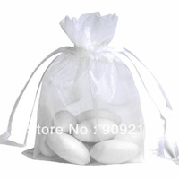 500 pcs/lot White Organza Bags Size 9x12 cm Wedding Favors Party Gift Bag