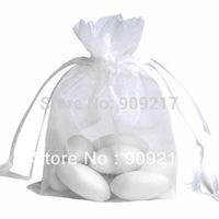 500 pcs/lot White Organza Bags Size 9x12 cm Wedding Favors Party Gift Bag