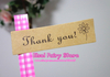 Wholesale Lovely Seal Label Sticker 'Thank You' Kraft Sticker (1800pcs) Free shipping(Hong Kong)