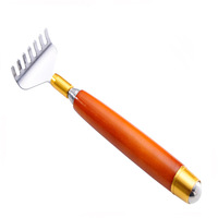 Wooden handle telescopic back scratcher