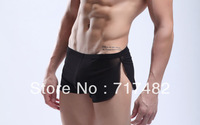 Free shopping + men's underwear/sexy low waist completely transparent thin gauze underwear/straight Angle pants