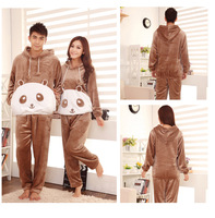 Autumn and winter lovers sleepwear winter sleepwear male lounge women's thickening coral fleece sleepwear female set