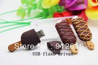 Free Shipping / The chocolate stripes ice cream u disk, creative simulation USB flash drives, ice cream lovers     U004