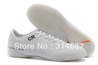 2013 Free Shipping Discouts Indoor Soccer Shoes Cleats Boots Orange/White CR7 Personal Special Version