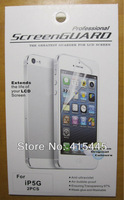 High Quality Clear Screen Protector For iPhone 5 5G 5S Full Body LCD Guard Flim with Retail Package, Free Shipping 10pcs