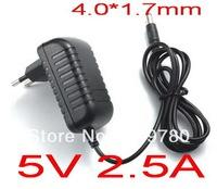 Free shipping High quality 1PCS AC 100V-240V Converter Adapter DC 5V 2.5A Power Supply EU Plug DC 4.0mm x 1.7mm 2500mA