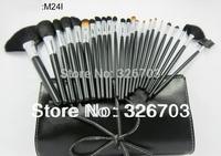 24 PCS Professional Makeup Cosmetic Brush set Kit Case/Pouch makeup brushes set