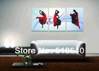 3 Panels Paint Decorative Picture Superb Canvas Print Ballet Dancing Room Large Wall Hanging Art  Pt33