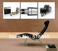 3 Panel Modern Home Black White Movie Decoration Painting On Canvas Abstract Picture Wall Hanging  Picture Paint Art Pt65