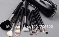 Free shipping ,2set / lot ,New Professional Makeup 12 pcs Brush Cosmetic Make Up Set