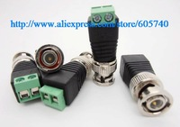 Wholesale Brand New 50pcs/lot BNC Male CAT5 for CCTV Video Adapter Coaxial Coax Balun Camera TV Connector free shipping