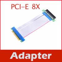 PCI-E Express 8X Riser Card Adapter Extend Flex Cable