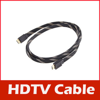 5FT 1.5M HDMI V1.4 Flat Cable 3D 1080P Aluminum Alloy Head for Xbox DVD HDTV