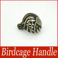 Birdcage Cabinet Handle Pull Knob Antique Metal Pull Handle Bronze Tone