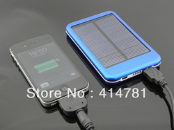 Free shipping High quality 6000mAh Solar Power bank Solar charger Conversion head 5 + adapter With Retail Package(China (Mainland))