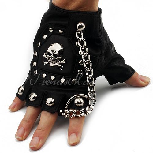 Black Leather Gloves For Men Mens Boys Black pu Leather