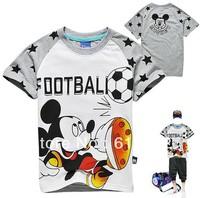 2013 Summer baby boys  Mickey short t-shirt ,kids cotton Tops Short Sleeve childen cartoon tees free shipping