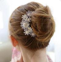 Fashion Flower Hair Pins/Flower Hair Accessaries Full Rhinestones Hair Comb  AF065