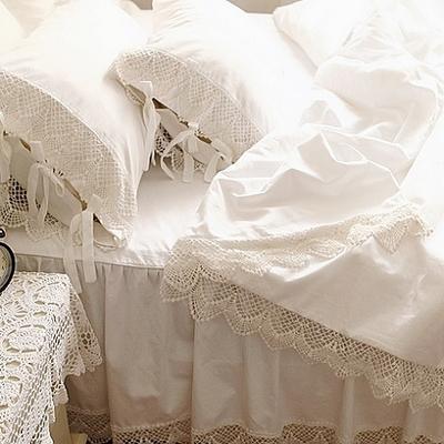 Princess lace bedding set koop goedkoop princess lace bedding set van chinese princess lace - Romantische witte bed ...