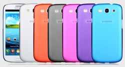 Clear 0.5mm Ultra Thin Matte Slim Crystal Hard Back Case Transparent Cover for Samsung Galaxy S3 i9300 Wholesale 10pcs/lot(China (Mainland))