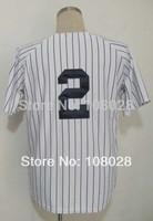 #2 Derek Jeter Jersey,Cheap Baseball Jersey Authentic Jersey Stitched Logo Embroidery Sport Jersey