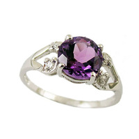 Min order is $10 mix order Beadsnice ID25586 AAA 1.5 Carat Natural Purple Spinel set in sterling silver set engagement ring