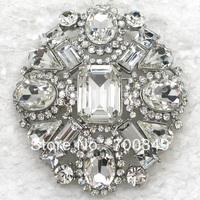 Fashion jewelry gift Glisten Clear Crystal Rhinestone Glass gem Brooches Wedding Party prom Brooch pin Flower Brooch C2086
